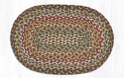 "Capitol Earth Rugs Braided Jute Placemats 13"" x 9"", Color: Fir/Ivory"