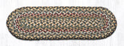 "Capitol Earth Rugs Braided Jute Stair Tread, 8.25"" x 27"" Oval, Fir/Ivory"