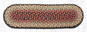 "Capitol Earth Rugs Braided Jute Stair Tread, 8.25"" x 27"" Oval, Burgundy/Grey/Cream"