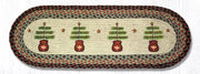 "Capitol Earth Rugs Feather Tree Printed Table Runner, 13"" x 36"" Oval"