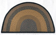 "Capitol Earth Rugs Braided Jute Slice Rug, 24"" x 39"", Brown/Black/Charcoal"