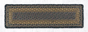 "Capitol Earth Rugs Braided Jute Stair Tread, 8.5"" x 27"" Rectangle, Brown/Black/Charcoal"