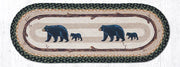 "Capitol Earth Rugs Mama & Baby Bear Printed Table Runner, 13"" x 36"" Oval"