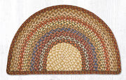 "Capitol Earth Rugs Braided Jute Slice Rug, 18"" x 29"", Honey/Vanilla/Ginger"