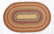 "Capitol Earth Rugs Honey/Vanilla/Ginger Traditional Braided Rug, Oval 20"" x 30"""