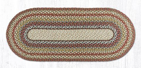 "Capitol Earth Rugs Honey/Vanilla/Ginger Traditional Braided Rug, Oval 20"" x 48"""