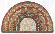 "Capitol Earth Rugs Braided Jute Slice Rug, 24"" x 39"", Honey/Vanilla/Ginger"