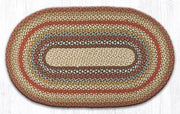 "Capitol Earth Rugs Honey/Vanilla/Ginger Traditional Braided Rug, Oval 27"" x 45"""