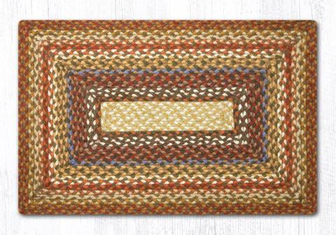 "Capitol Earth Rugs Honey/Vanilla/Ginger Traditional Braided Rug, Oblong 20"" x 30"""