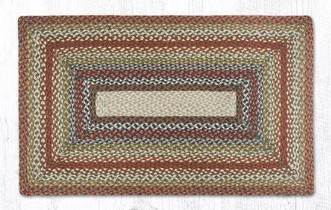 "Capitol Earth Rugs Honey/Vanilla/Ginger Traditional Braided Rug, Oblong 27"" x 45"""