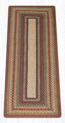 Capitol Earth Rugs Honey/Vanilla/Ginger Traditional Braided Rug, Oblong 2' x 6'