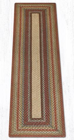 Capitol Earth Rugs Honey/Vanilla/Ginger Traditional Braided Rug, Oblong 2' x 8'