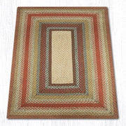 Capitol Earth Rugs Honey/Vanilla/Ginger Traditional Braided Rug, Oblong