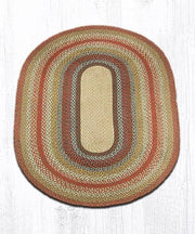 Capitol Earth Rugs Honey/Vanilla/Ginger Traditional Braided Rug, Oval