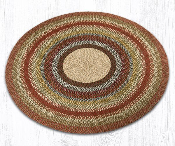 Capitol Earth Rugs Honey/Vanilla/Ginger Traditional Braided Rug, Round