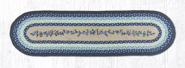 "Capitol Earth Rugs Blueberry Vine Printed Table Runner, 13"" x 48"" Oval"