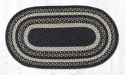 "Capitol Earth Rugs Mocha/Frappuccino Traditional Braided Rug - Oval 27"" x 45"""