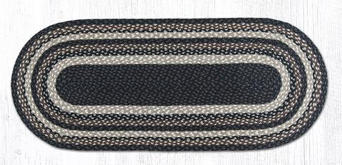 "Capitol Earth Rugs Mocha/Frappuccino Traditional Braided Rug - Oval 20"" x 48"""