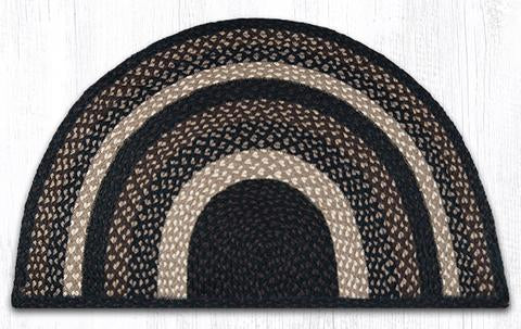 "Capitol Earth Rugs Braided Jute Slice Rug, 24"" x 39"", Mocha/Frappuccino"