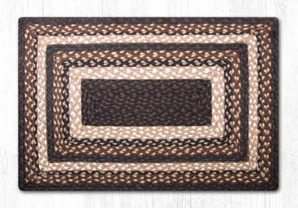 "Capitol Earth Rugs Mocha/Frappuccino Traditional Braided Rug - Oblong 20"" x 30"""