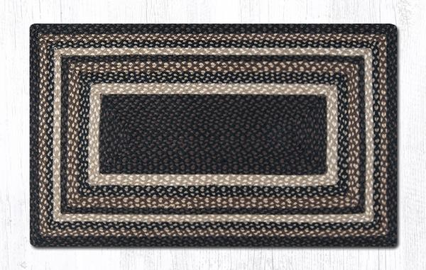 "Capitol Earth Rugs Mocha/Frappuccino Traditional Braided Rug - Oblong 27"" x 45"""