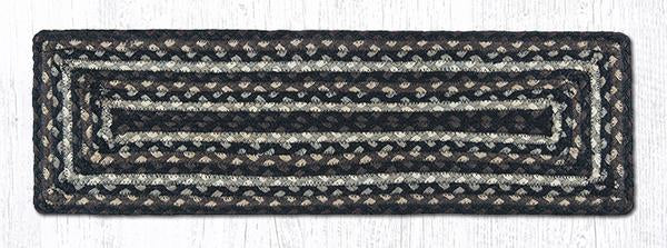 "Capitol Earth Rugs Braided Jute Stair Tread, 8.5"" x 27"" Rectangle, Mocha/Frappuccino"