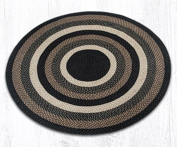 Capitol Earth Rugs Mocha/Frappuccino Traditional Braided Rug - Round