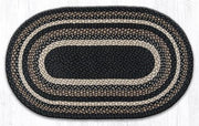 "Capitol Earth Rugs Mocha/Frappuccino Traditional Braided Rug - Oval 20"" x 36"""