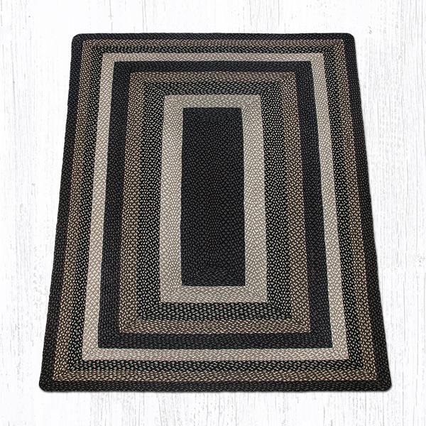 Capitol Earth Rugs Mocha/Frappuccino Traditional Braided Rug - Oblong