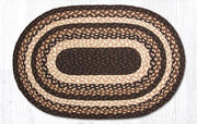 "Capitol Earth Rugs Mocha/Frappuccino Traditional Braided Rug - Oval 20"" x 30"""