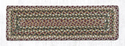 "Capitol Earth Rugs Braided Jute Stair Tread, 8.5"" x 27"" Rectangle, Olive/Burgundy/Grey"