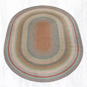 Capitol Earth Rugs Multi-Color Traditional Braided Rug, Oval