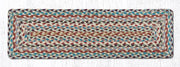 "Capitol Earth Rugs Braided Jute Stair Tread, 8.5"" x 27"" Rectangle, Multi-Color"