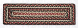 "Capitol Earth Rugs Braided Jute Stair Tread, 8.5"" x 27"" Rectangle, Burgundy/Black/Tan"