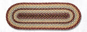 "Capitol Earth Rugs Braided Jute Table Runner, 13"" x 36"", Color: Burgundy/Grey/Cream"