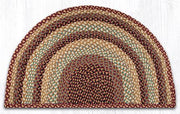 "Capitol Earth Rugs Braided Jute Slice Rug, 24"" x 39"", Burgundy/Grey/Cream"