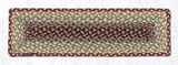"Capitol Earth Rugs Braided Jute Stair Tread, 8.5"" x 27"" Rectangle, Burgundy/Grey/Cream"