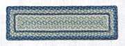 "Capitol Earth Rugs Braided Jute Stair Tread, 8.5"" x 27"" Rectangle, Breezy Blue/Taupe/Ivory"