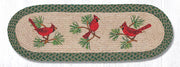 "Capitol Earth Rugs Cardinals Printed Table Runner, 13"" x 36"" Oval"