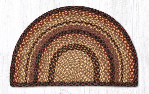 "Capitol Earth Rugs Braided Jute Slice Rug, 18"" x 29"", Black Cherry/Chocolate/Cream"