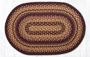 "Capitol Earth Rugs Black Cherry/Chocolate/Cream Traditional Braided Rug, Oval 20"" x 30"""