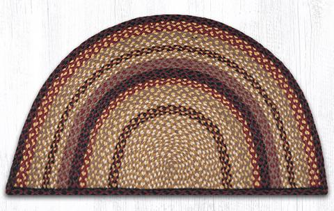 "Capitol Earth Rugs Braided Jute Slice Rug, 24"" x 39"", Black Cherry/Chocolate/Cream"