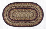 "Capitol Earth Rugs Black Cherry/Chocolate/Cream Traditional Braided Rug, Oval 27"" x 45"""