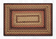 "Capitol Earth Rugs Black Cherry/Chocolate/Cream Traditional Braided Rug, Oblong 20"" x 30"""