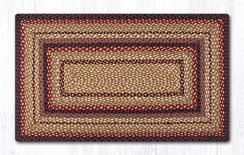 "Capitol Earth Rugs Black Cherry/Chocolate/Cream Traditional Braided Rug, Oblong 27"" x 45"""