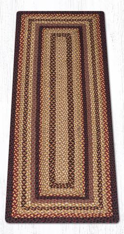 Capitol Earth Rugs Black Cherry/Chocolate/Cream Traditional Braided Rug, Oblong 2' x 6'