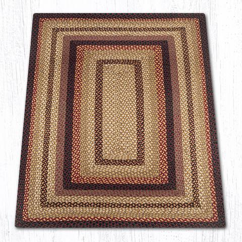 Capitol Earth Rugs Black Cherry/Chocolate/Cream Traditional Braided Rug, Oblong