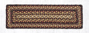 "Capitol Earth Rugs Braided Jute Stair Tread, 8.5"" x 27"" Rectangle, Black Cherry/Chocolate/Cream"