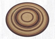 Capitol Earth Rugs Black Cherry/Chocolate/Cream Traditional Braided Rug, Round