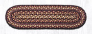 "Capitol Earth Rugs Braided Jute Stair Tread, 8.25"" x 27"" Oval, Black Cherry/Chocolate/Cream"